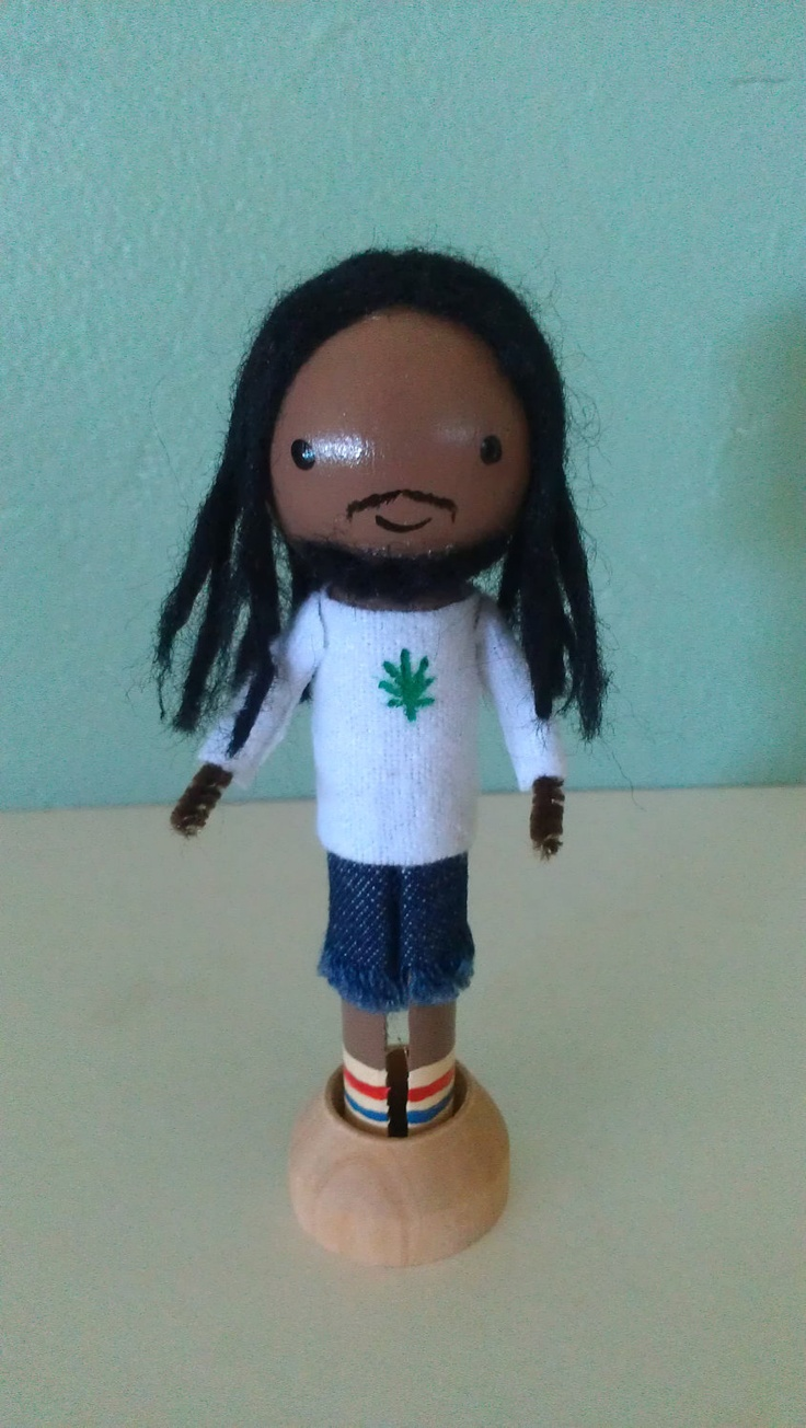 Idea for a Bob Marley clothes peg doll :-)