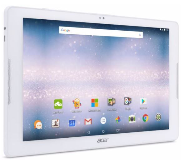 "1512,- Acer Iconia One B3-A32 16GB 4G Hvit - WiFi+4G, 10.1"" HD-skjerm,  5MP/2MP kamera, Android 6.0 Marshmallow, MicroSD"