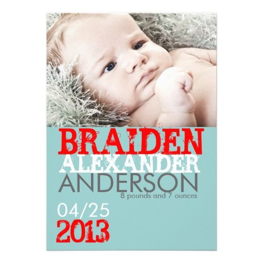 Birth Announcement Card #baby #birthannouncements #babyannouncements