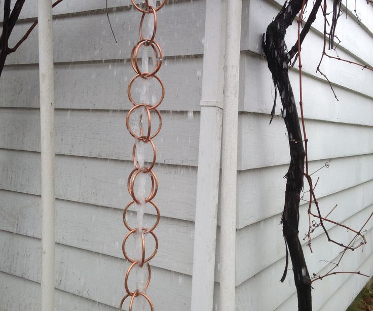 This is a DIY guide to how I made my wonderful wife a rain chain. Rain chains are used in place of gutter downspouts to direct the water downward. She has been wanting one for some time, but they can be expensive. Only basic soldering skills and a few tools are required.