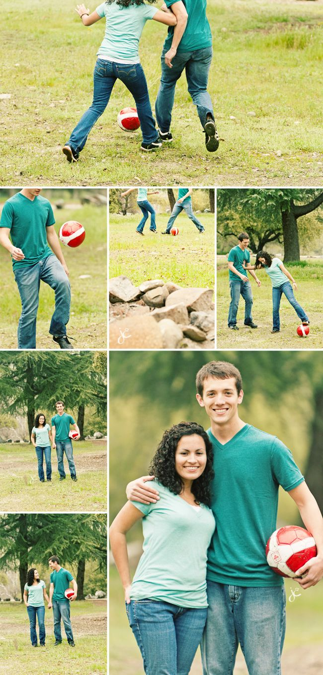 soccer engagement--just a couple of shots though...and would be nice to have a goal in the shot?