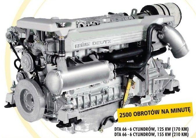 Silnik Morski Diesla Chłodzony olejem DTA66 Vetus