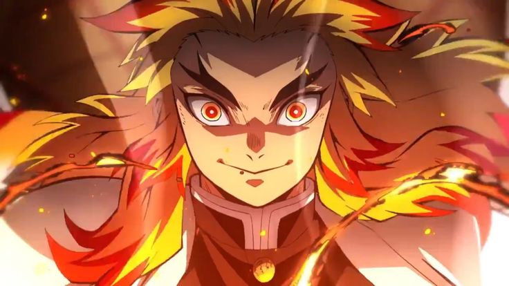 Rengoku Kyoujurou Demon Slayer Kimetsu No Yaiba The Movie Mugen Train Setan Ilustrasi Karakter Ilustrasi