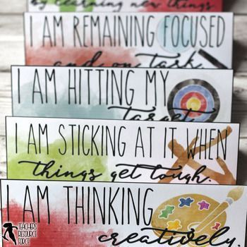 Growth Mindset table tents to encourage your students to develop self-confidence and improve behaviour