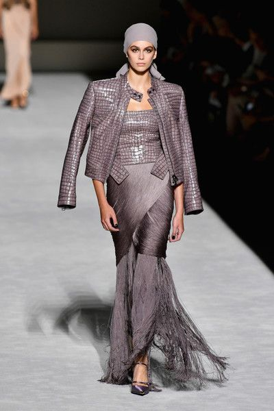27b7785887d0 Kaia Gerber walks the runway at the Tom Ford fashion show during New York  Fashion Week.