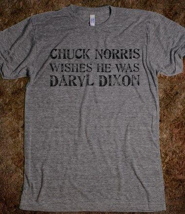 Chuck Norris WISHES he was Daryl Dixon, walking dead