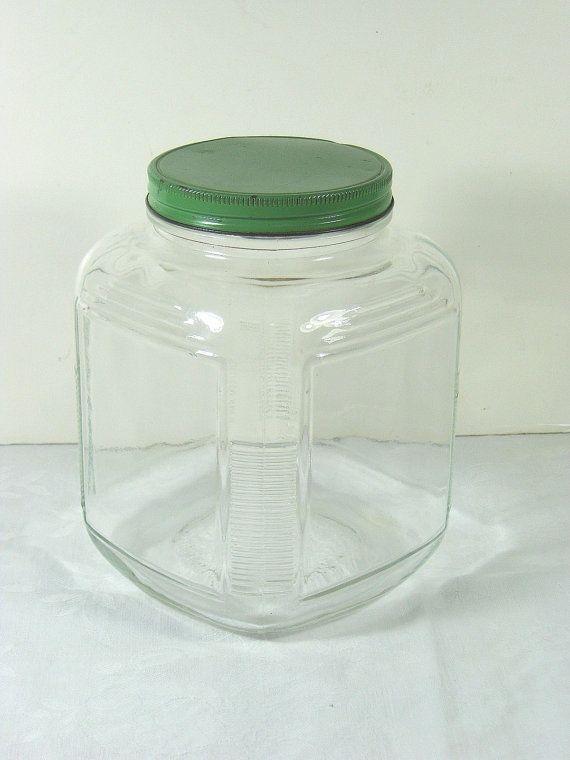 Vintage Hoosier Cabinet Jar Kitchen by LavenderGardenCottag