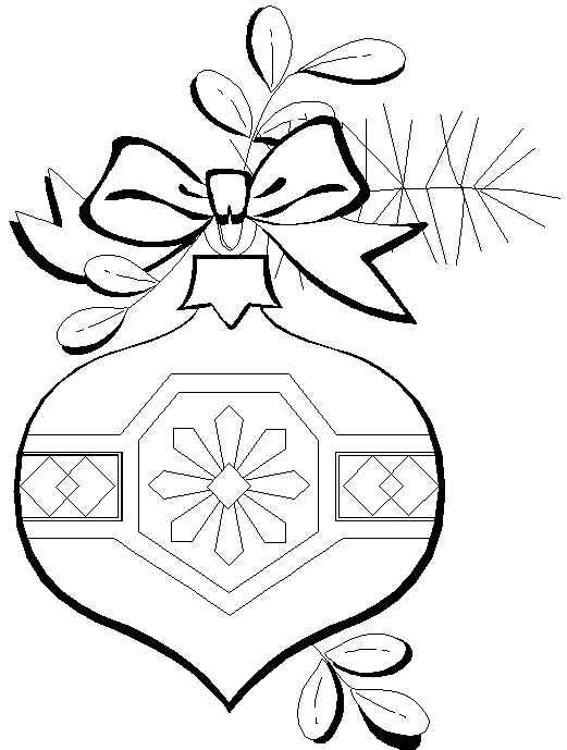 Free Coloring Pages: Christmas Ornaments Coloring Page:
