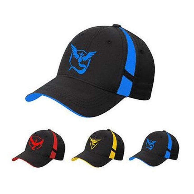 Pokemon Go Cap Hat Team Valor Team Mystic Team Instinct Pokemon Cap Go Team Black Baseball Cap Men Snapback Pokemon Hat Women