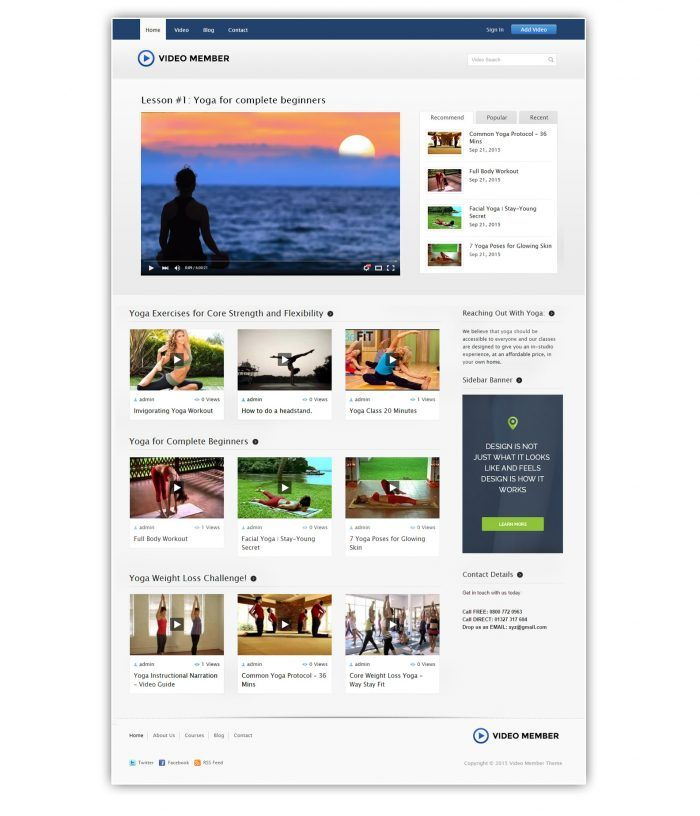 VideoMember is a complete video membership wordpress solution – a bundle of wp plugin and theme! With this bundle everyone can start earning recurring passive income with videos just like mixergy.com and lynda.com make millions using this same method i.e. selling video memberships.