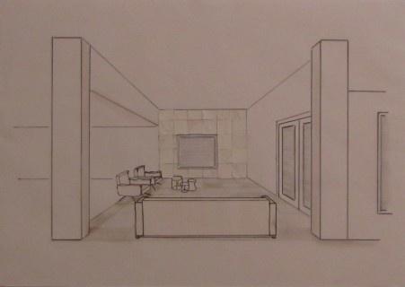 Examenopdracht doc stap perspectief tekening eigen for Eigen badkamer tekenen