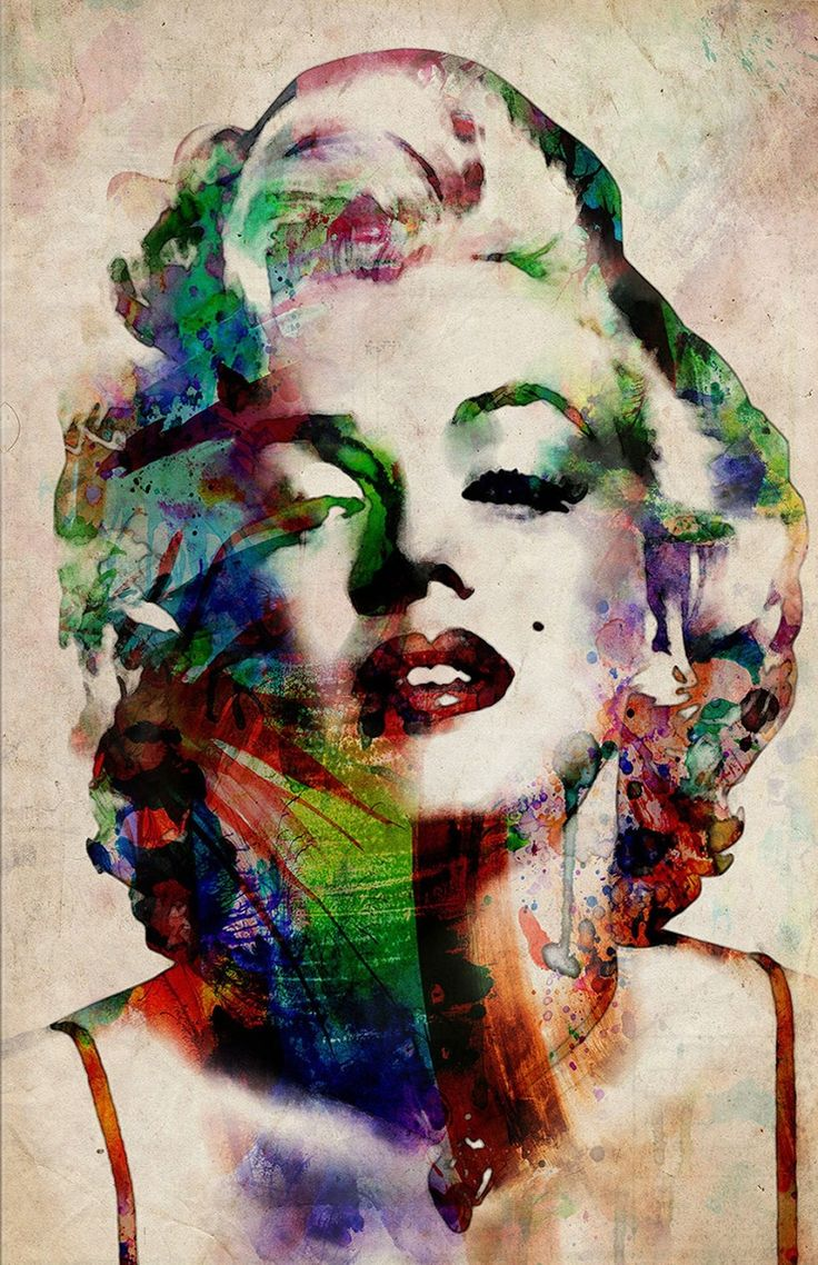 Watercolor Marilyn Monroe by Michael Tompsett Canvas Print