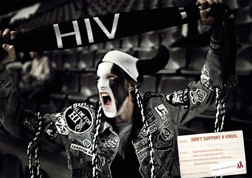 """Don't Support a Virus"" from Michael Stich Stiftung's Campaign Against HIVAdvertising Campaign"