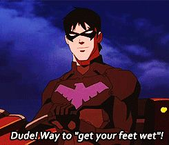 Nightwing... one of my favourite scenes in season 2!