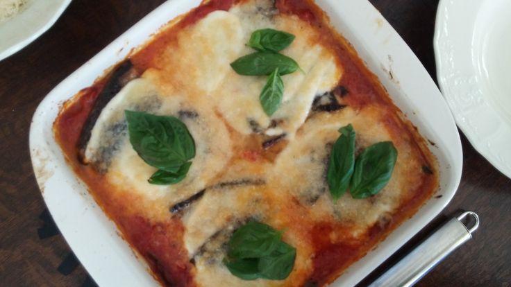 Recept aubergine mozzarella lasagna