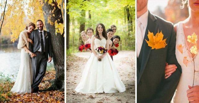 10 par, które zdecydowały się na ślub jesienią. Na pewno tego nie żałują!
