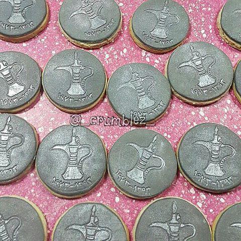 _crumblez_ Eid cookies.. done last night at the last minute  one of the sides of a dirham coin.. a dirham cookie for the kids بسكوت العيد... وجه من وجوه الدرهم... وجه الدله حبينا نفرح العيال ونعيدهم  #eidmubarak #eid2015 #eidcookies #eidcookies2015 #themecookies #dirhamcookies #dirham #moneycookies #عيد #عيد_الفطر #عساكم_من_عواده #درهم #وجه_الدله
