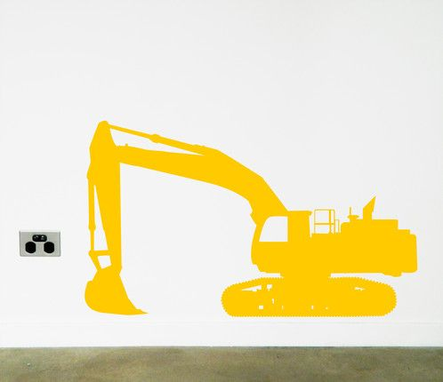Does every boy love a digger? Excavator wall sticker to brighten up your walls.  https://www.moonfacestudio.com.au/product-page/digger-excavator-vinyl-wall-sticker-decal