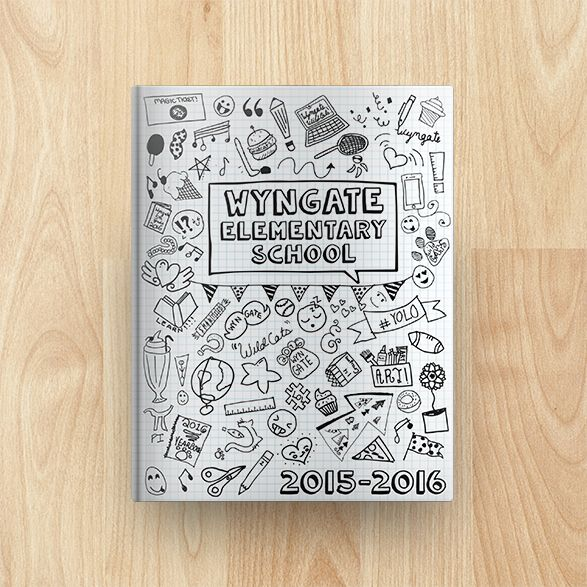 wyngate elementary school yearbook cover 2015 2016