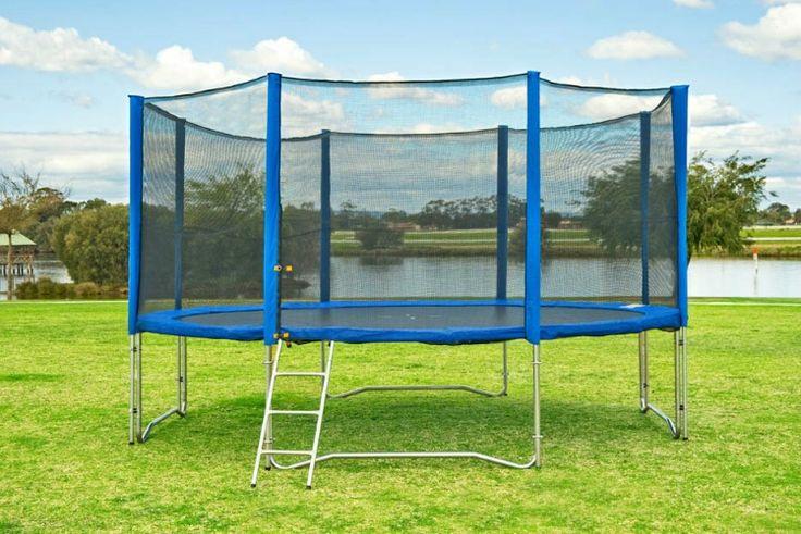 Trampoline: 10FT Trampoline with Enclosure & Ladder - $300.00 : Jumpstar
