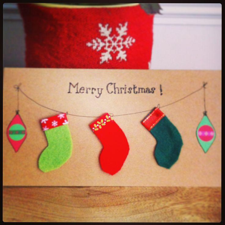 Felt stockings Christmas card