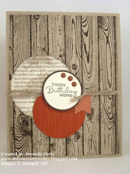 Cajun Hardwood Birthday by mandypandy - Cards and Paper Crafts at Splitcoaststampers