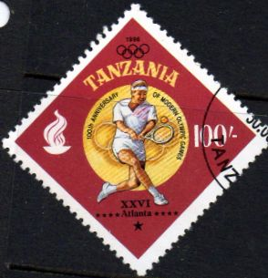 Tanzania 1996 Olympic Games Scott 1578 Fine Used SG Not Listed Scott 1578