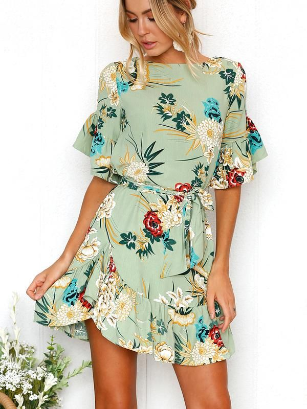 ff14bf547889 Wild Romance Floral Print Mini Dress | Style | Mini dress with sleeves,  Fashion, Summer dresses for women