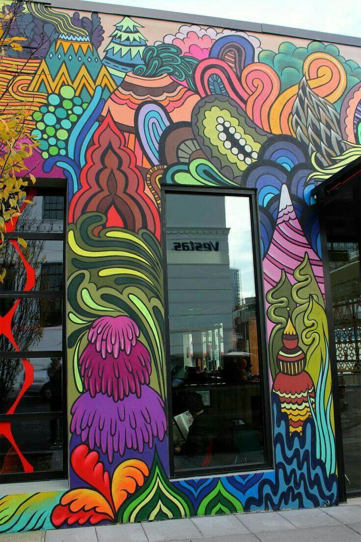 Garage graffiti doodles graffiti wall art mural wall art graffiti cafe grafitti