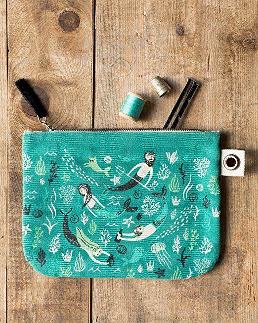 Amazon.com: Danica Studio Zipper Pouch, Large, Sea Spell: Home & Kitchen