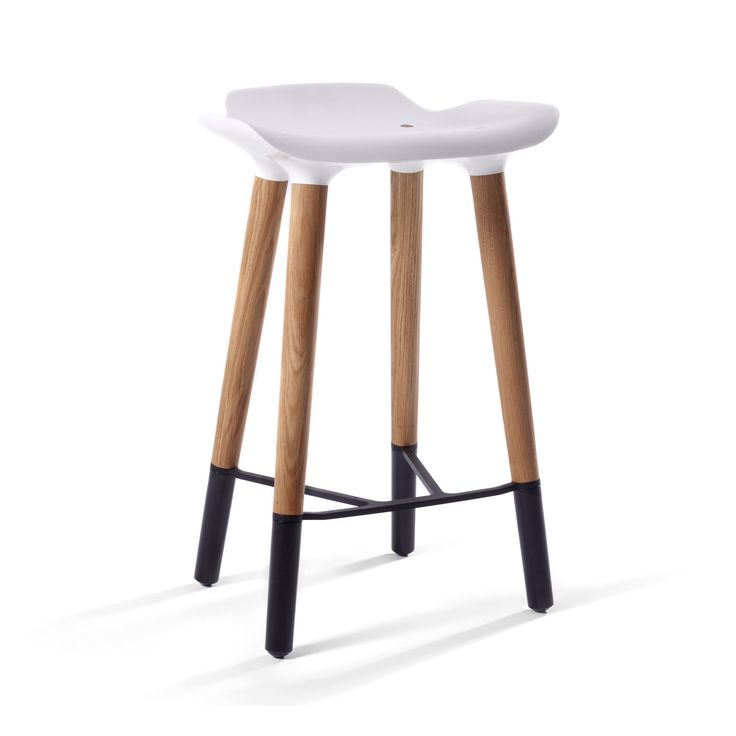 Pluto Danish Modern Counter Stool with Seat