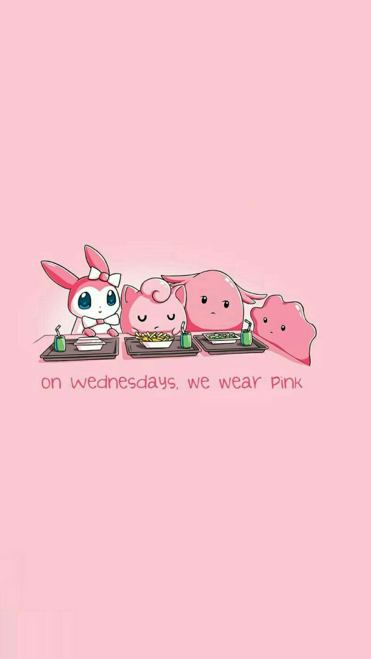 "pink lockscreen ""on Wednesdays we wear pink"""