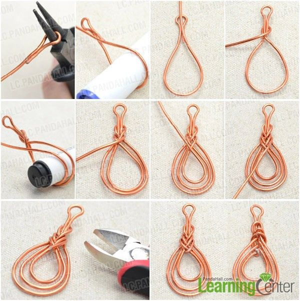 Step 1: Wire wrap Pipa knot