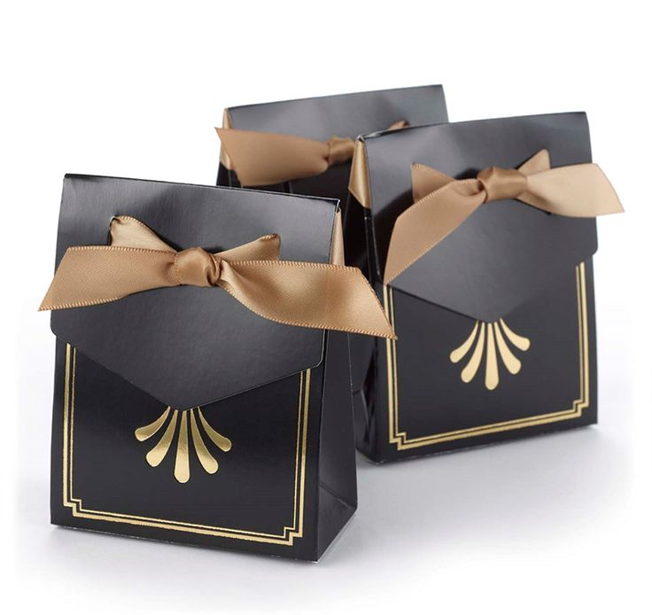 """These elegant Art Deco Tent Favor Boxes are the perfect finishing touch for your wedding, anniversary or special event.  Each box may be filled with a homemade treat or candy and given to your guests as a """"thank you"""" for being part of your special day."""