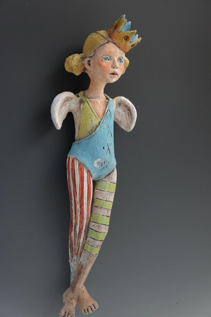 Dot ceramic sculpture by artist Victoria Rose Martin. I have seen her work at Piedmont Craftman in Winston-Salem, NC! FABULOUS!