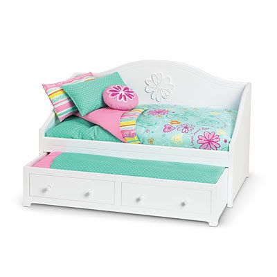 Lipstick and Sawdust: Trundle Bed for American Girl or 18 inch Doll