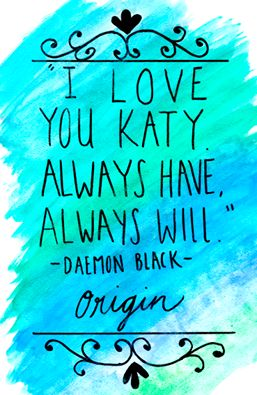 Daemon Black ~ Opal                                     I was this close to crying when he said it to Kat. The moment was so not right 😟: