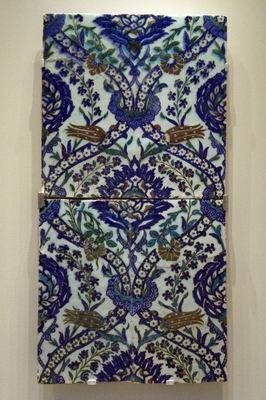 Wall tiles   Iznik, Turkey   17th century   Underglaze-painted frit