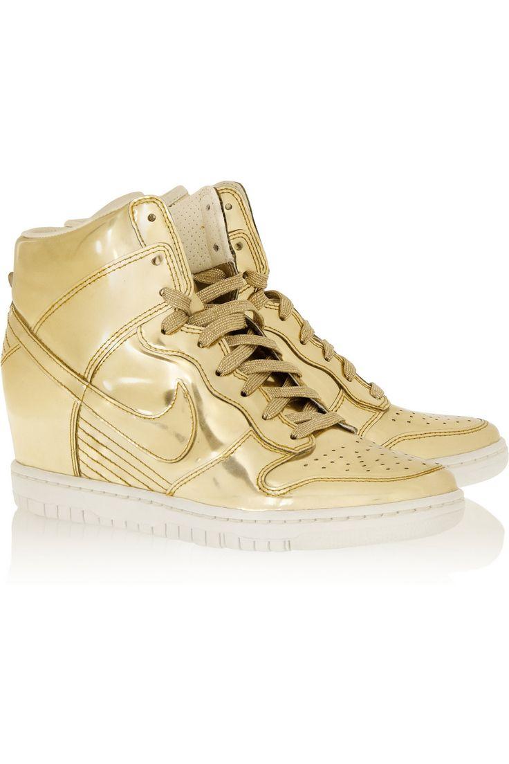 low cost 104c1 ad1af ... LunarElite Sky Hi Shoe Nike Dunk Sky Hi metallic leather wedge sneakers  ...