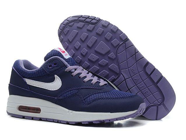 Beste Nike Air Max 1 Lila Damen Silbern Online Schuhe, Billige Nike Air Max Discount