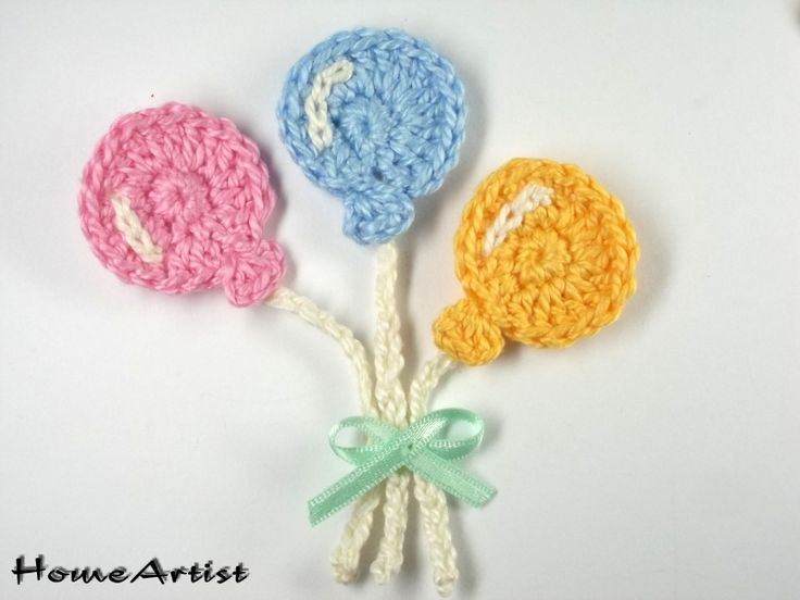 Ballons Crochet Applique Embellishments