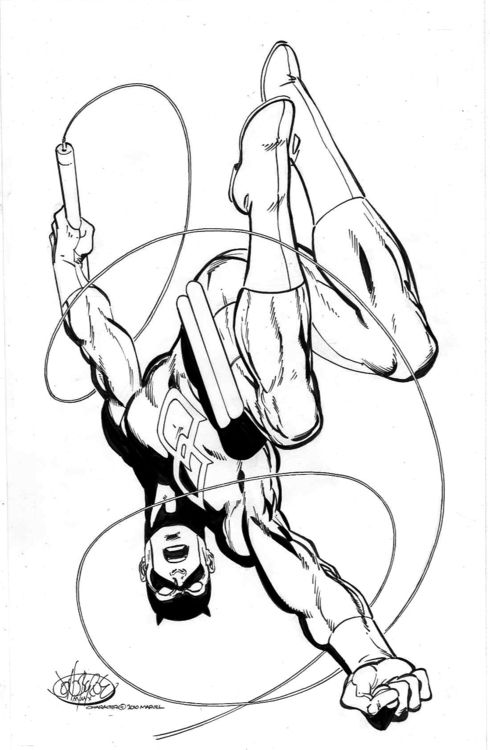 Daredevil 2010 by john byrne wham boom pow for Daredevil coloring pages