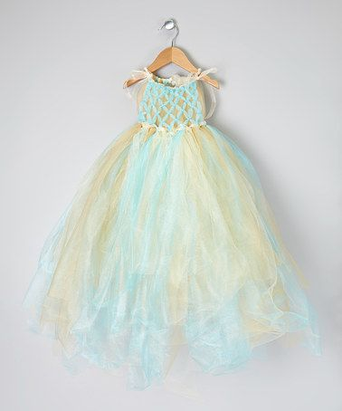 Take a look at this Blue & Gold Mermaid Tutu Dress - Toddler & Girls by Enchanted Fairyware Couture on #zulily today!