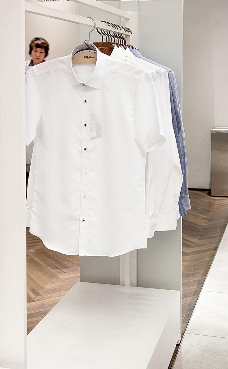 [SHOP@] 레노마 셔츠 자가드 반소매 셔츠