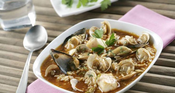 Zuppa di riso ai frutti di mare  #Star #ricette #ricettedastar #food #recipes…