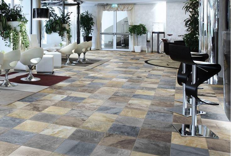 Indian autumn Slate Floor Style tile, Slate flooring