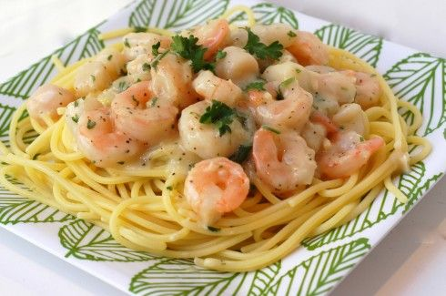 Shrimp and Scallop in Lemon Wine Sauce.Pasta Dinner, Lemon Wine, Pasta Dishes, White Wine, Scallops Pasta, Fine Cooking, Schar Bloggers, Gluten Free, Wine Sauces