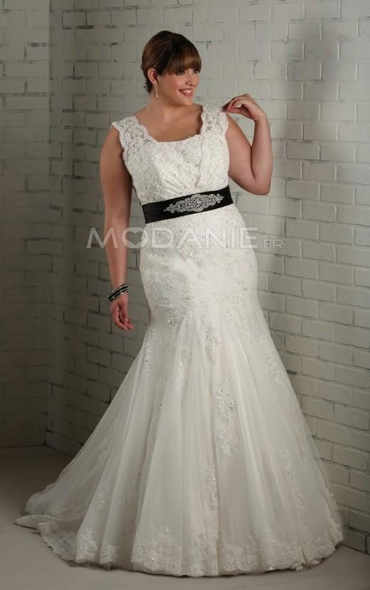 Robe de mariée grande taille http://www.modanie.fr/empire-robe-de-mariee-grande-taille-en-tissu-organza-col-en-u-avec-traine-courte-produit-5873.html