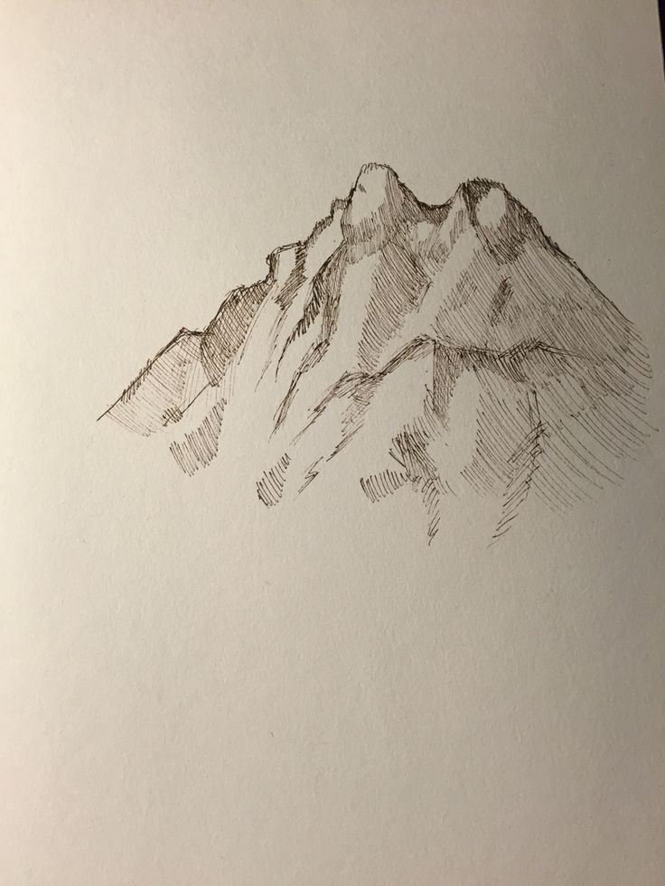 Mountain sketch.