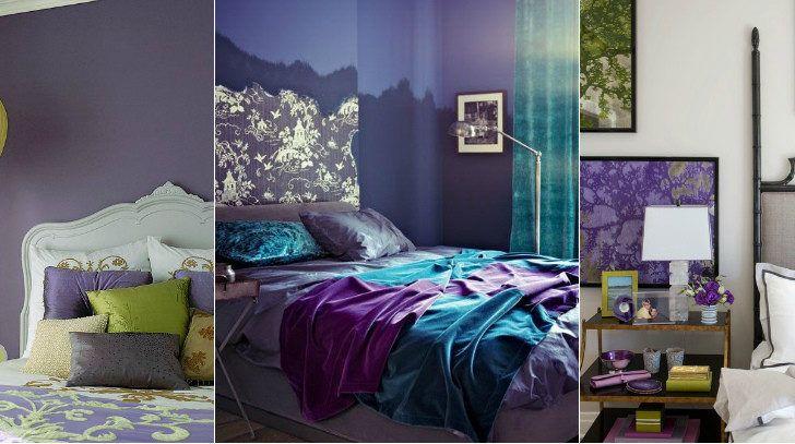 Inspirierende Lila Und Olivgrün Schlafzimmer Foto ...